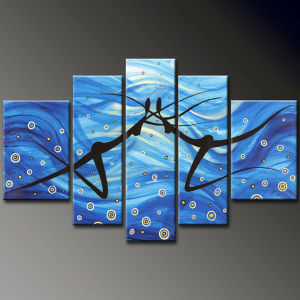 Decorative Abstract Oil Painting on Canvas (KLFG-0091)