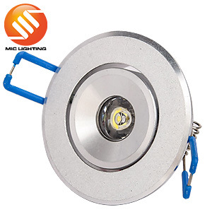 High Quality Round Aluminum 1W LED Downlight