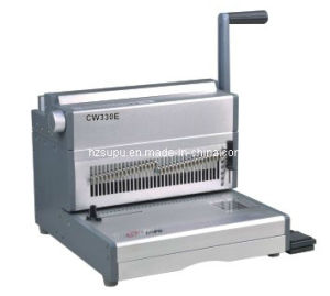 Electric Double Wire Binding Machine for Book Binding (CW330E) pictures & photos