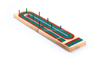 Wooden Cribbage Game with Peg