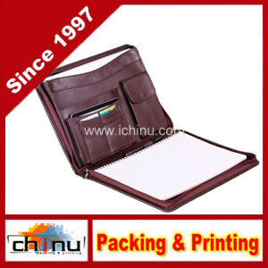 Executive Zip-Closed Organizer Padfolio with Pouch Pocket (520088) pictures & photos