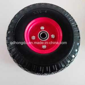 Soft Light High Elastic PU Foam Rubber Wheel (10*3.50-4) pictures & photos
