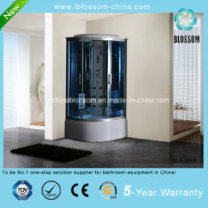 Luxury Blue Glass Foot Massage Steam Complete Shower Room (BLS-9818) pictures & photos