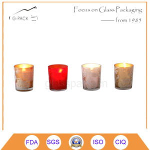 Pattern Designed Shot Glass Candle Holder, Votive Candle pictures & photos