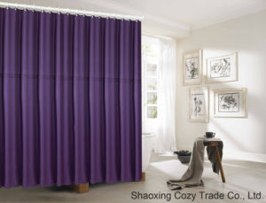 Multifunctional Convenient 100%Polyester Shower Curtain with Bags pictures & photos