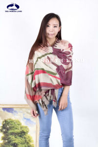 Extra Fine Water Soluble Merino Wool Shawl with Digital Prints pictures & photos