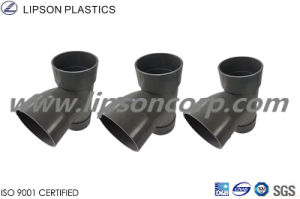 Lipson Plastic Tee PVC Three Ways Tee Sanitary Pipes Fittings pictures & photos