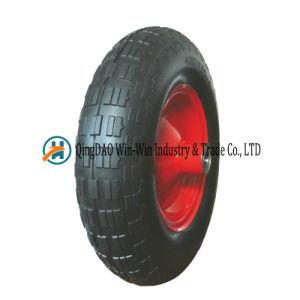 4.80/4.00-8 PU Foam Wheel for Wheelbarrow 16 Inch Trolley Wheel Flat Free pictures & photos