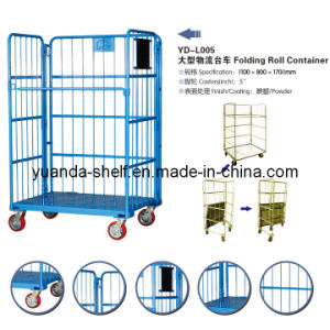 Warehouse Cargo Used Rolling off Metal Cage Storage Container pictures & photos