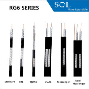 75ohm RG Series CATV Communication Coaxial Cable with UL Cert