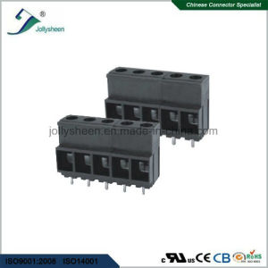 PCB Screw Terminal Blocks Pitch 10.16mm 180deg Straight Black Housing pictures & photos