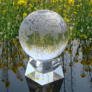 Crystal Glass Ball with Base for Business Gifts pictures & photos