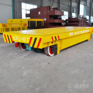 China Supplier Heavy Load Industrial Use Electric Transfer Trolley on Rails pictures & photos