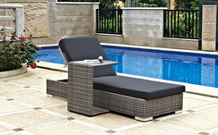 PE Rattan Lounge Set with Multi-Functional End Table