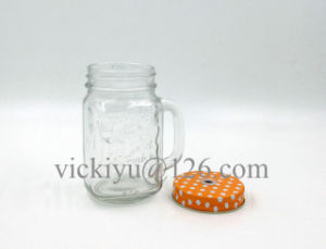 250ml Glass Mason Jar with Straw pictures & photos