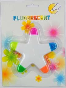 Fluorescent Highlighter Marker in Star pictures & photos