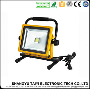 Outdoor Camping Portable Rechargeable Flood Lights 10W/20W/30W Spotlight pictures & photos