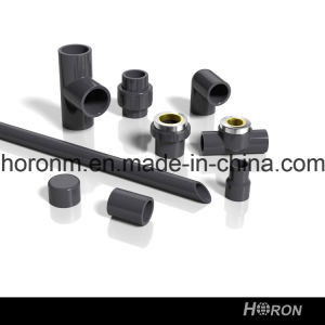 PVC-U Sch80 Water Pipe Fitting (DOUBLE COPPER THREAD ELBOW) pictures & photos