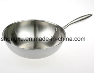 18/10 Stainless Steel Cookware Chinese Wok Cooking Frying Pan (SX-WO32-E) pictures & photos