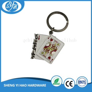 Las Vegas Poker Soft Enamel Tourism Keychain pictures & photos