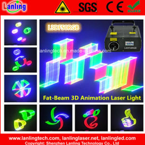 400MW RGB Fat-Beam 3D Animation Laser Light (L3DF50RGB) pictures & photos