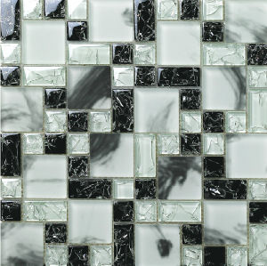 Ice Crack Crystal Glass Mosaic Tiles Bathroom Wall Tiles pictures & photos
