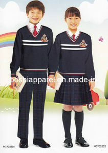 Primary /Middle School Uniform of Cotton Fabrics for Winter -Su29 pictures & photos