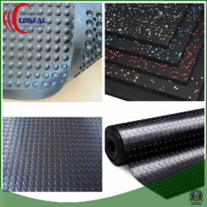 Five Colors of SBR+Cr (Neoprene) Rubber Mat for Floor pictures & photos