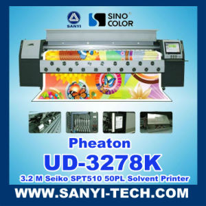 PVC Flex Printing Machine Ud-3278k, 3.2m, with Spt510/50pl Printheads pictures & photos