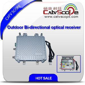 Outdoor 2 Way Output Bi-Directional Optical Receiver with AGC Csp-1012