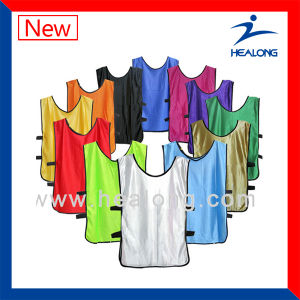 Healong Shirt Sublimated Manufacture Soccer Bibs pictures & photos
