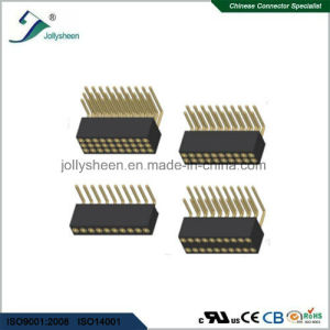 1.27mm Right Angle Machine Female Herader Connector pictures & photos