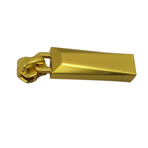 Gold Plated Color Metal Zipper Puller Zipper Slider for Bags pictures & photos