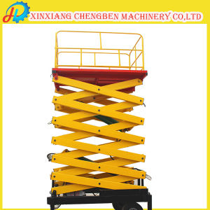 Warehouse Used Small Hydraulic Scissor Lift Table for Outdoor Working pictures & photos