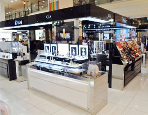 China Luxury Retail Store Design Cosmetic Kiosk For Dior