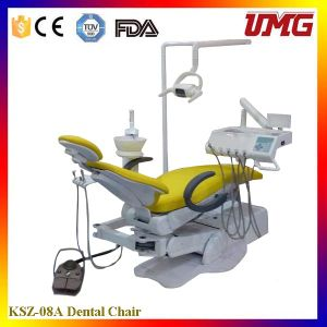 High Suction Dental Chair Treatment Unit with Assistant Controller pictures & photos