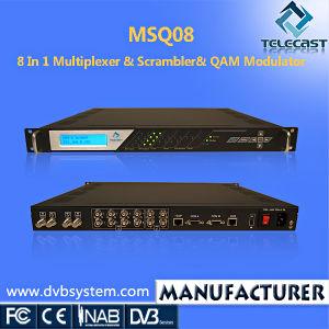 8 in 1 IP Multiplexer & Scrambler& Qam Modulator