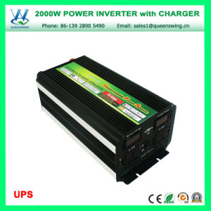 UPS 2000W DC12/24V Solar Power Inverter with Charger (QW-M2000UPS) pictures & photos