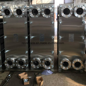 Milk/Drinks/Wine Cooling System Gasketed Type Plate Heat Exchanger pictures & photos