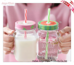 Wholesale Transparent Mason Jar for Beverage Glass Milk Bottle with Cover pictures & photos