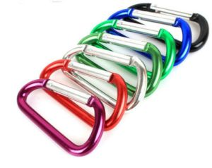 Custom Laser Engraved Aluminum Wholesale Carabiner Hook pictures & photos