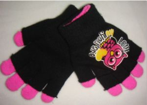 Winter Five Fingers Acrylic Printed Girl Glove pictures & photos