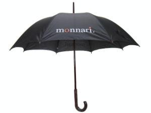 Auto Open Wood Shaft Advertising Straight Umbrella (AU015) pictures & photos