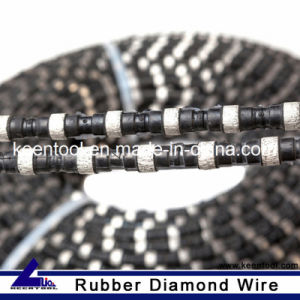 Rubber+Spring Cured Concrete Rope Saw for Cutting pictures & photos