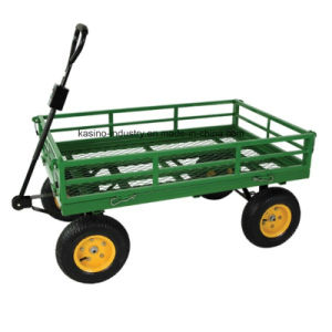 Manufacturing 500kgs Capacity Steel Utility Garden Mesh Cart/Hand Trailer Cart (tc1859) pictures & photos