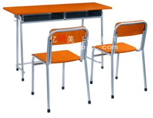 Student Furniture Double Classroom Student Desk&Chair pictures & photos
