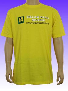 Men′s Yellow Color Custom T-Shirt pictures & photos