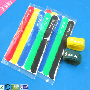 Printed Logo Nylon Hook & Loop Strap Cable Tie pictures & photos