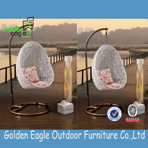 Beautiful and Great Quality Swing Chair with SGS PE Rattan & UV Resistant Fabric Cushion pictures & photos