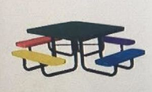 46-Inch Square Perforated Kids Picnic Table pictures & photos